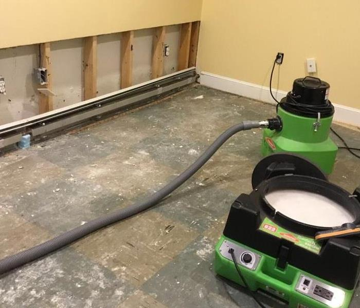 Water Damage – Concord Finished Basement After