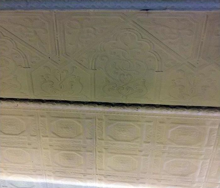 soot damaged ceiling