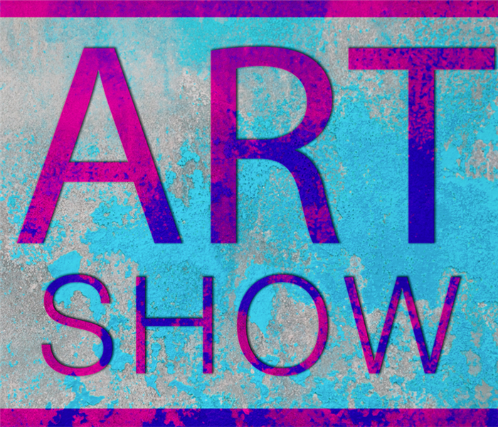 a logo saying art show